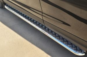 Nissan Qashqai 2014- Пороги труба  d42 с листом NQQL-001795